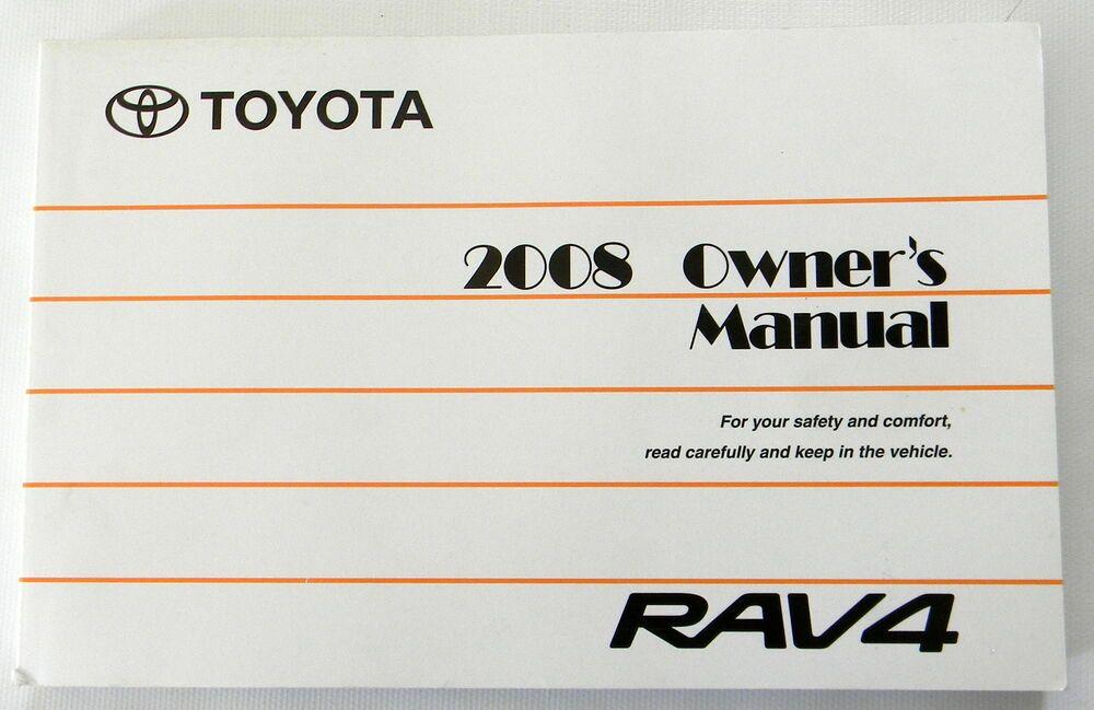 2008 Toyota Rav4 Owners Manual New Original Owners Manuals Rav4 Toyota Rav4