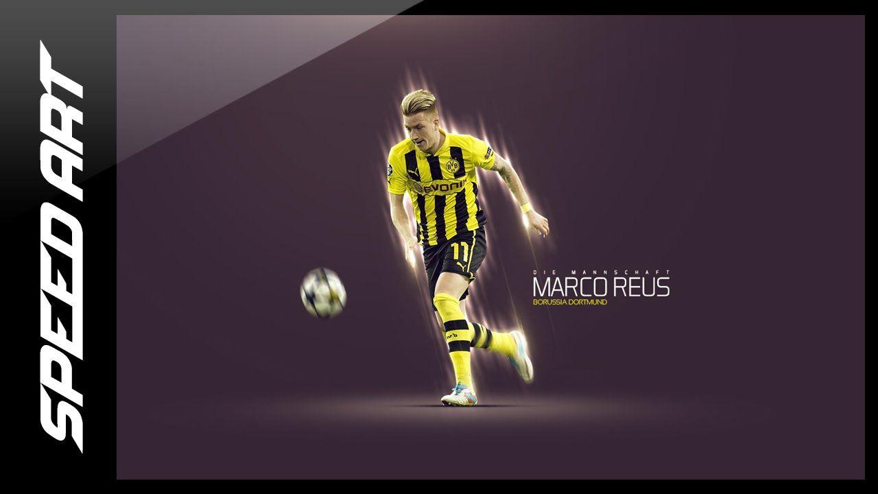Photoshop poster design youtube - Photoshop Design Football Wallpaper Marco Reus Speed Art