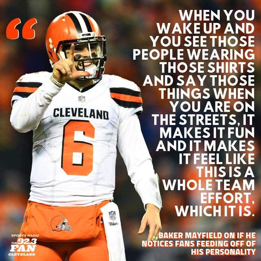 Pin By Shannon Petak On Baker Mayfield 6 C J Cleveland Browns Football Cleveland Browns History Browns Football