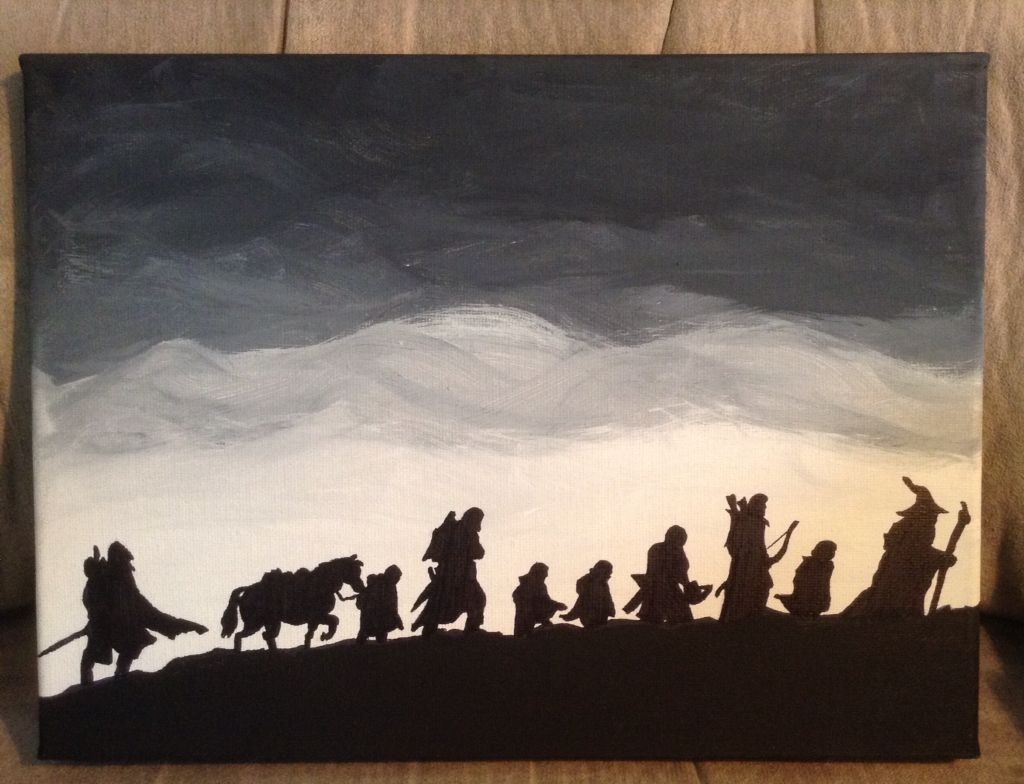 Lord Of The Rings Canvas Painting I Made On 8x12 Canvas Canvas