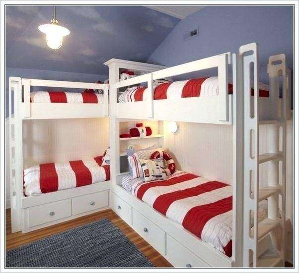 Corner Bunk Bed Corner Bunk Beds For Four Triple Corner Bunk Bed