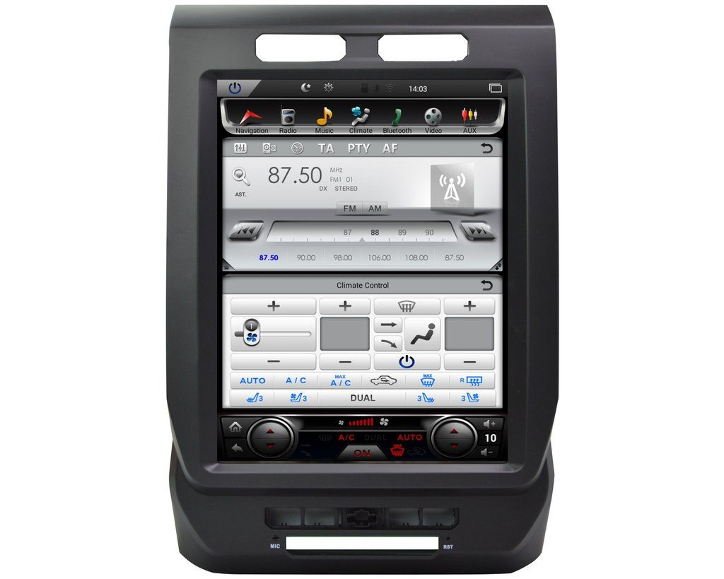 """20152018 Ford F150 12.1"""" TeslaStyle Android Navigation"""
