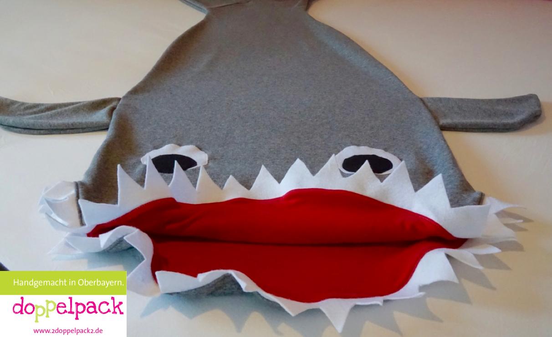 Hai Decke, Hai Schlafsack, Shark, Kuscheldecke, Nähen, Weihnachten,  Geschenk, 2doppelpack2