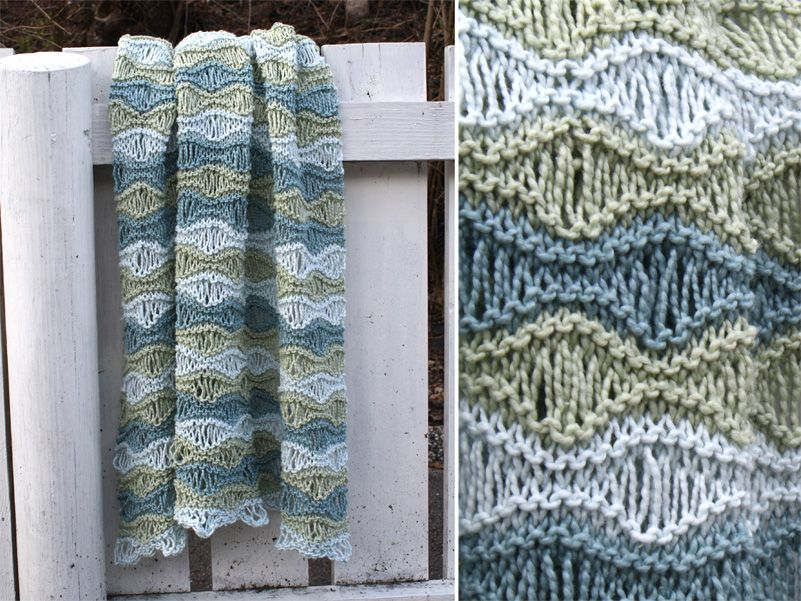 Complicated Knitting Patterns : This may be my new favorite baby blanket pattern. Its fast and easy, but...
