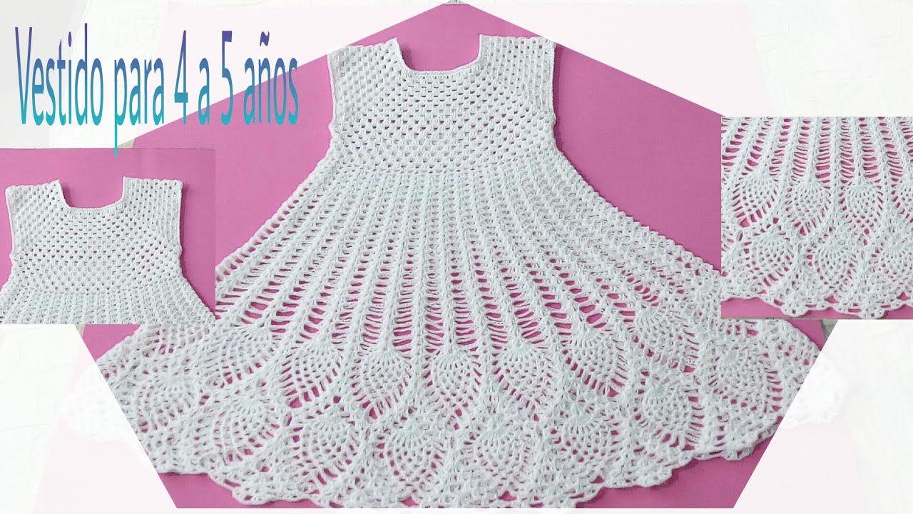 Vestido de piñas 4 a 5 años parte 1 | vestidinho | Pinterest ...