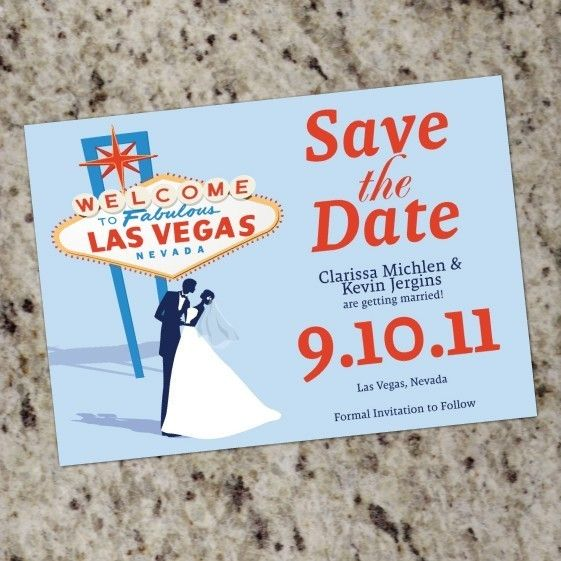 VEGAS Themed SavetheDate cards Print Your Own by Whirlibird