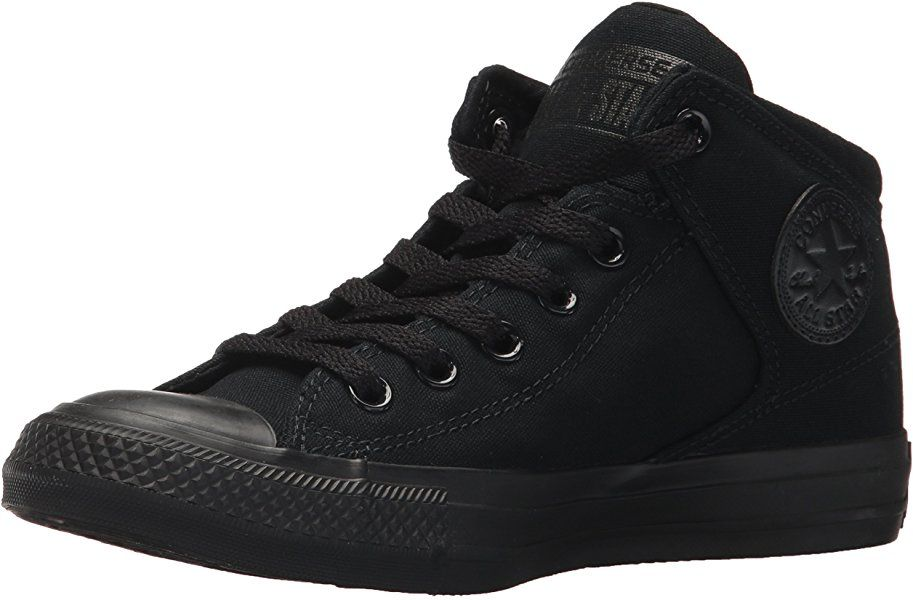 ba1e0bb90c967 Amazon.com | Converse Men's Street Tonal Canvas High Top Shoe, Black ...