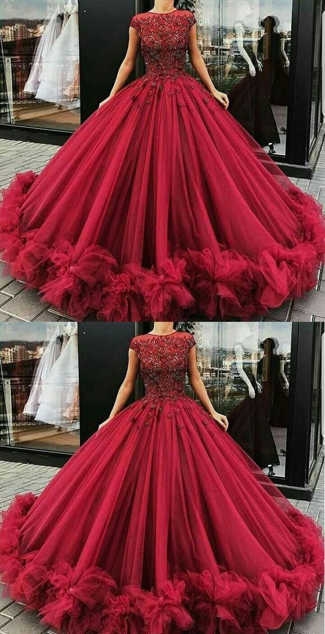 Elegant burgundy prom dresses cap sleeves birthday prom dresses