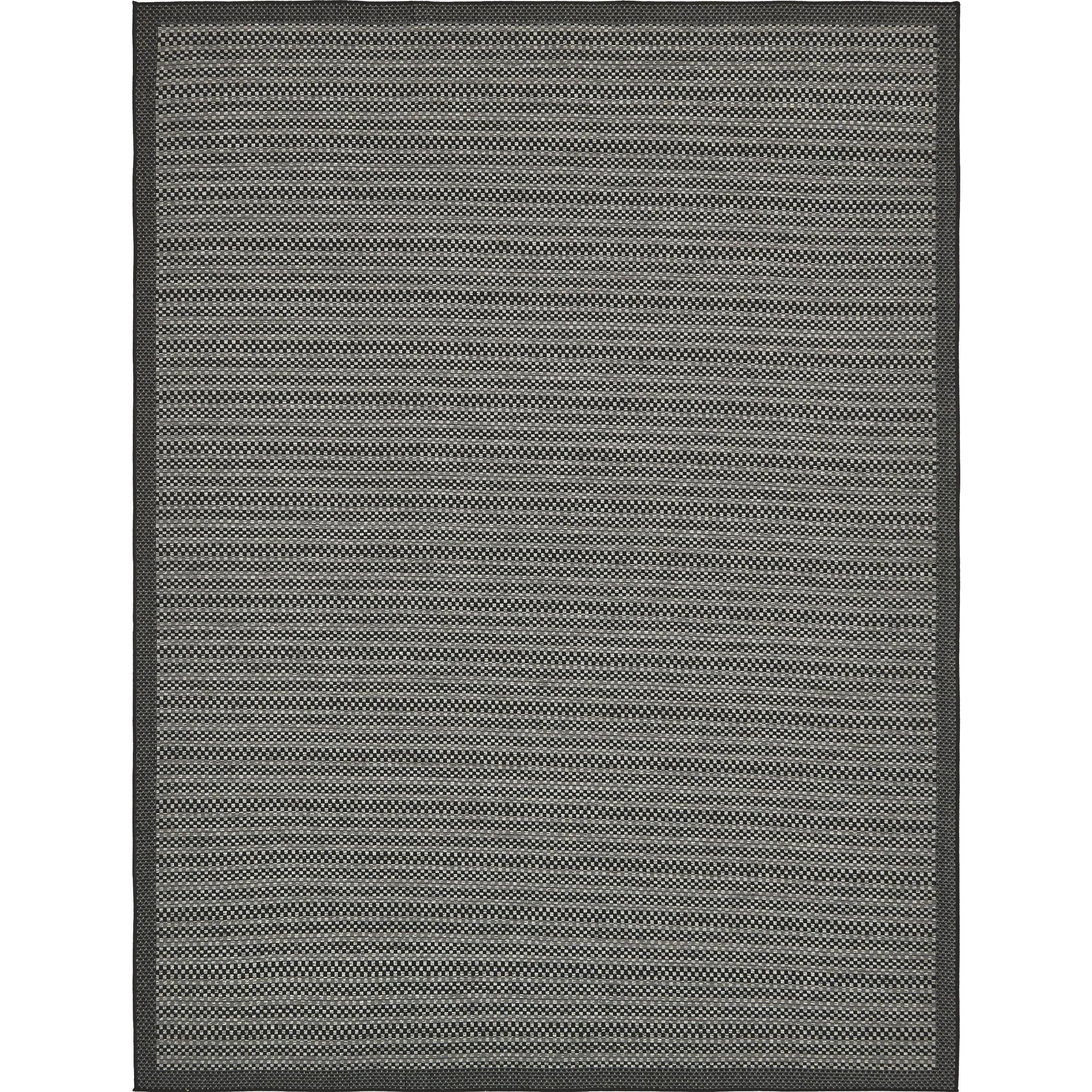 Unique Outdoor Geometric Grey Area Rug 9 X 12 Grey 12 Feet X