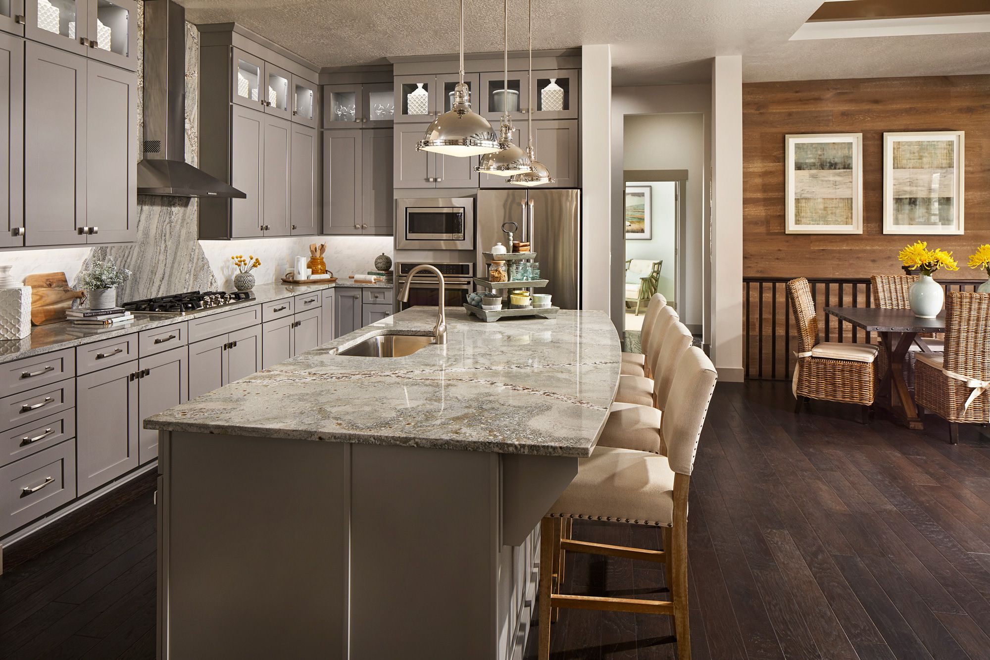 The Pennfield is located in Draper, UT. Gray kitchen ...