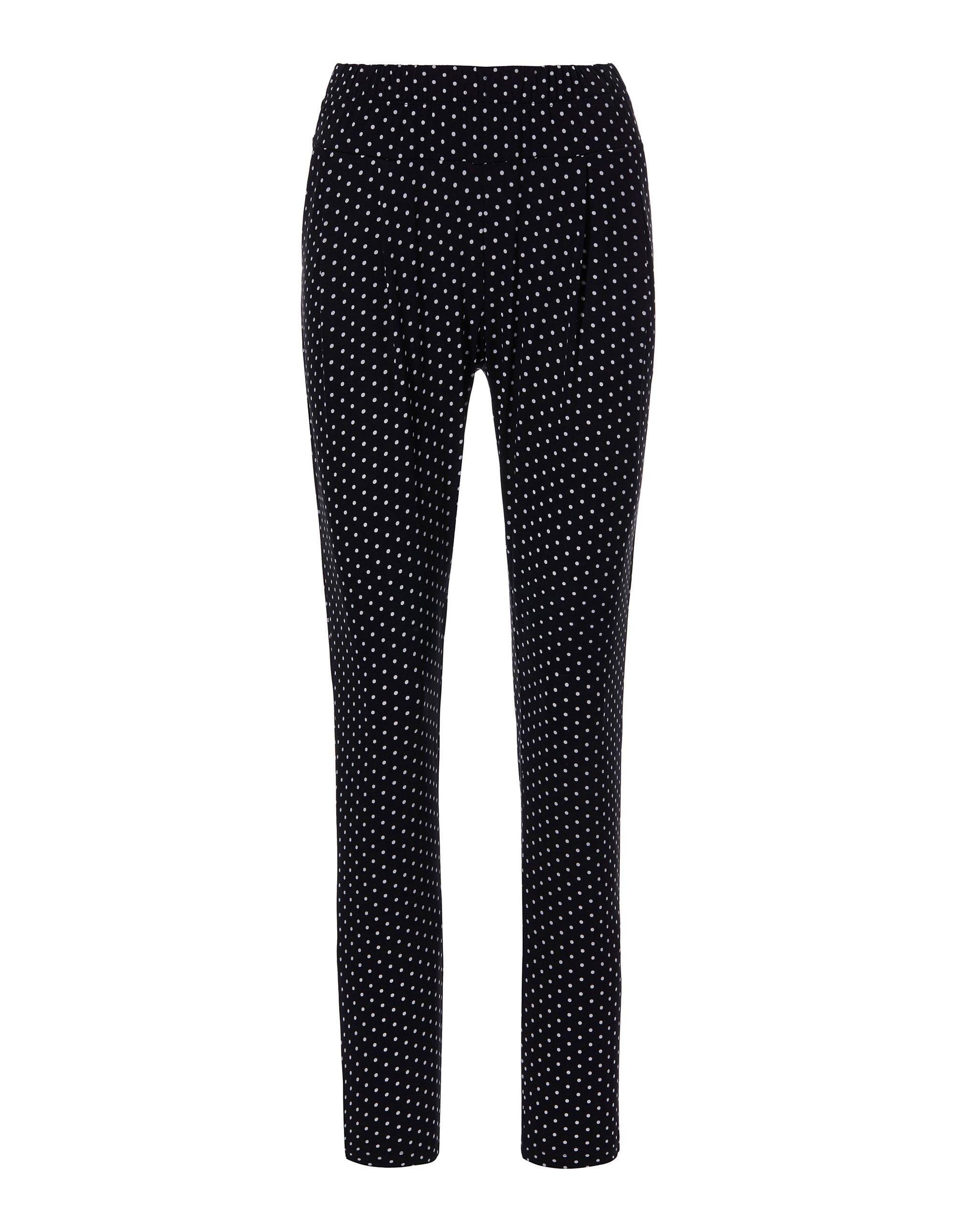 Jogg-Pants mit Tupfen in schwarz MADELEINE Gr 44  für Damen. Elasthan, Polyester. Waschbar