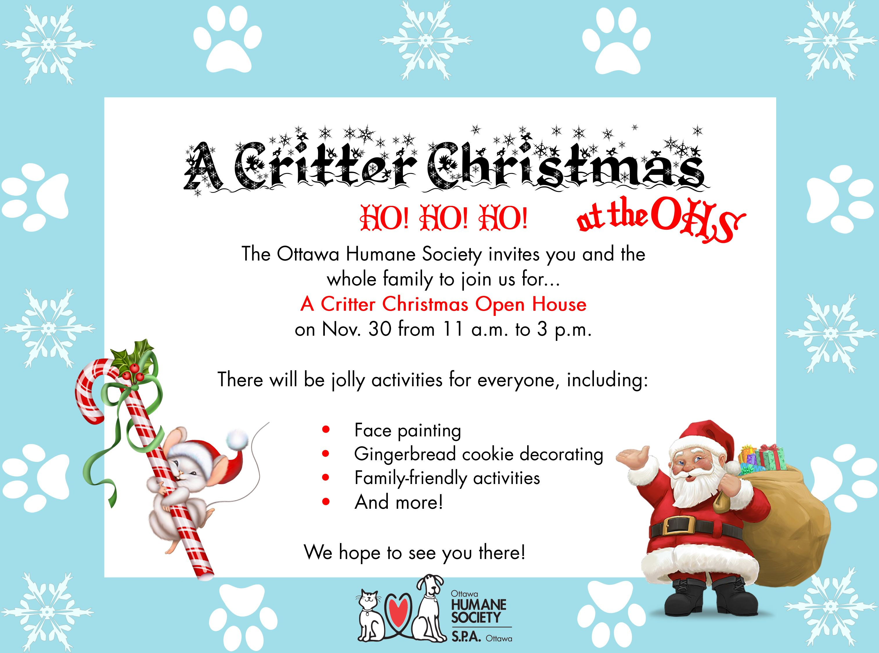 Critter Christmas at the OHS