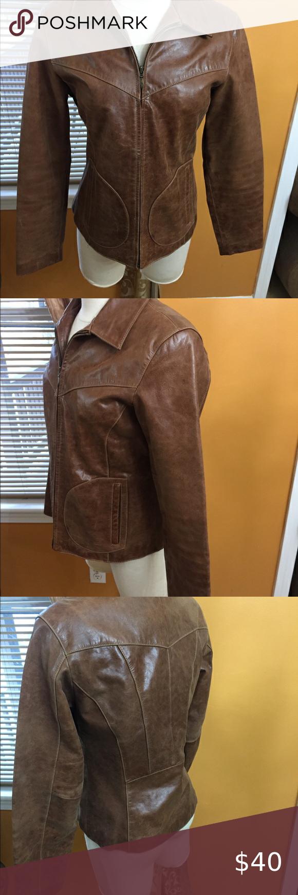 Wilson Leather Maxima Sz medium jacket light brown in 2020