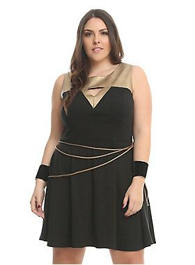 b476758b7e5 Her Universe DC Comics Wonder Woman Lasso Dress Plus Size