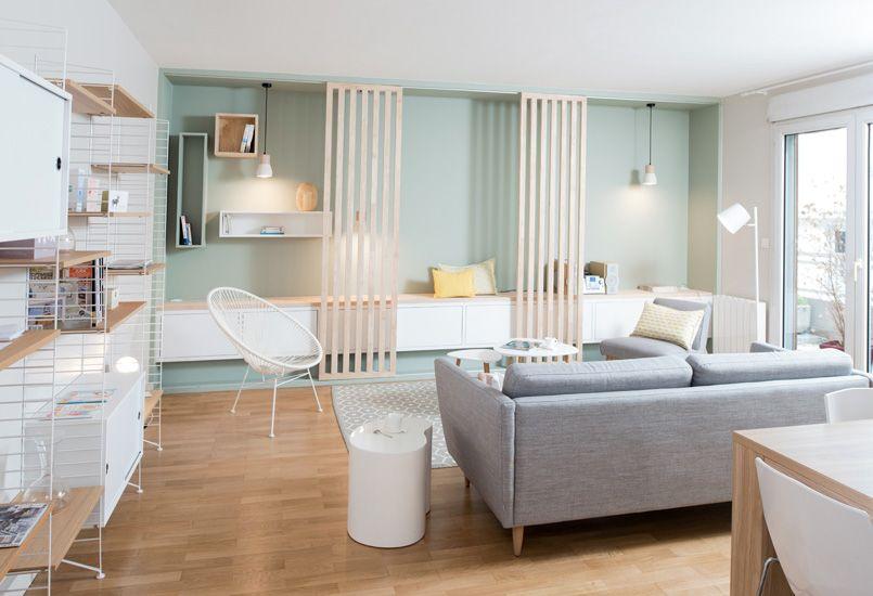 Une pièce à vivre et un sas dentrée ont été aménagés avec esthétisme cohérence et fonctionnalité grâce à marion lanoë architect