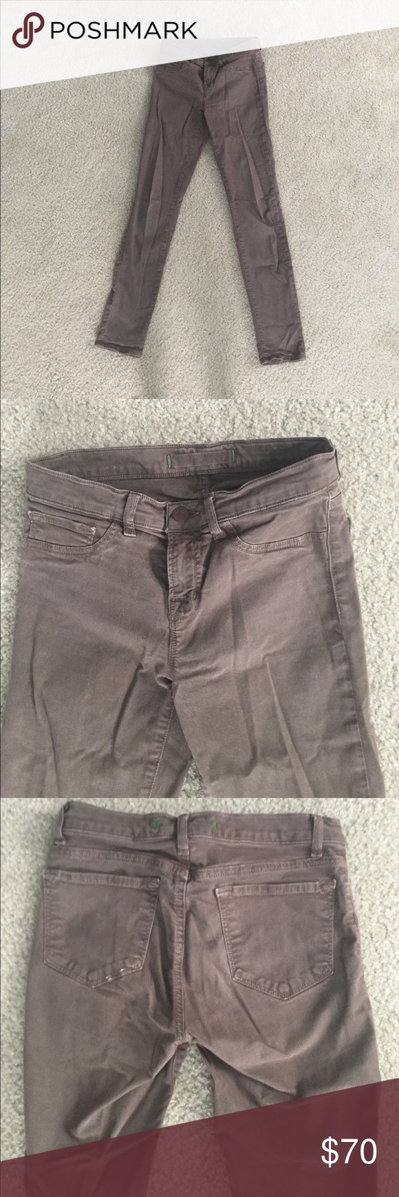 J Brand size 25 brown skinny jeans Good condition size 25 J Brand brown skinny jeans J Brand Jeans Skinny