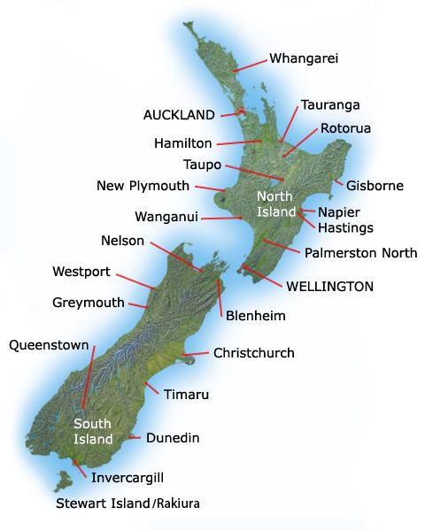 South New Zealand North Island