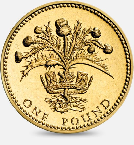 1984 1989 Thistle And Royal Diadem Scotland 1 One Pound Coin