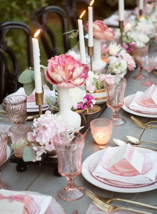 Blush Pink Tablescape Ideas Www Madampaloozaemporium Facebook Madampalooza