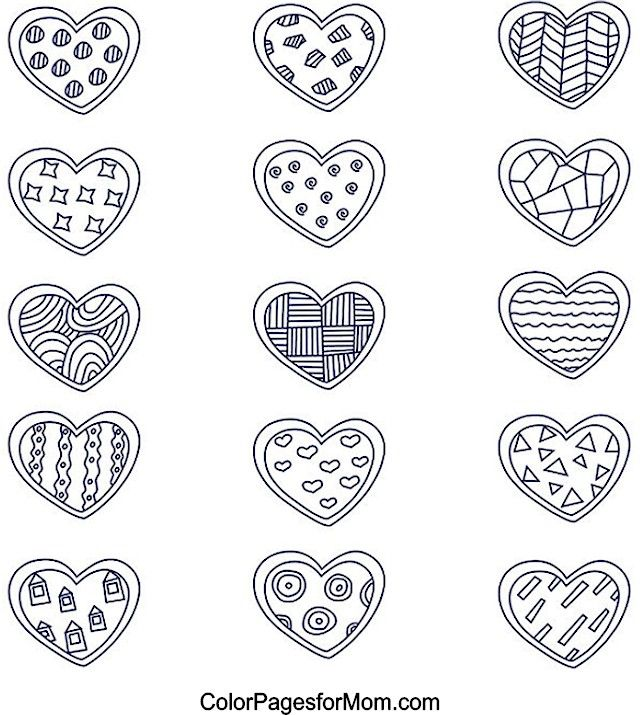Hearts 11 - (colorpagesformom) | cajas para imprimir | Pinterest ...