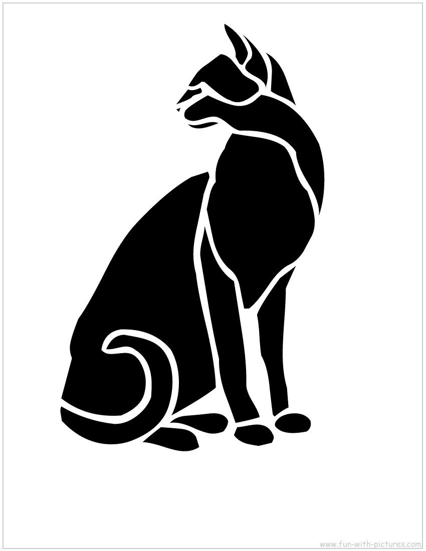 Wall painting stencils printables - Cat Stencil Google Images