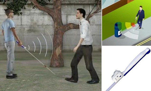 Smart Cane Lets Blind People See Objects Ahead Of Them