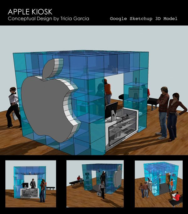 Apple Kiosk Conceptual Design By Tricia Garcia Produced Using