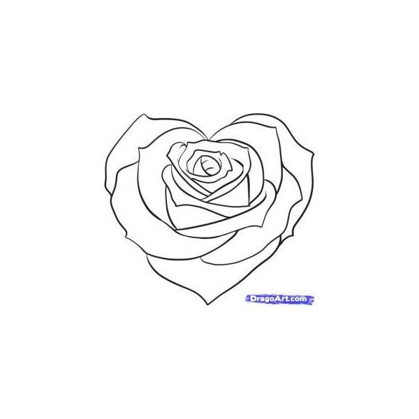 How to Draw a Pretty Heart   Rose coloring pages, Heart coloring pages, Roses drawing