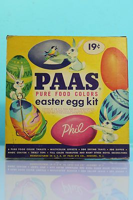 Vintage 50's Paas Easter Egg Color Kit Dipper Holders