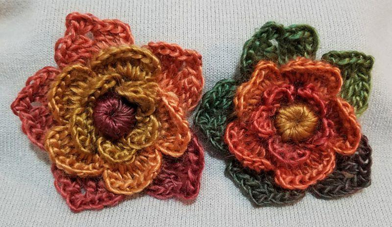 Layered Crochet Flower Free Pattern Crochet Appliques Pinterest