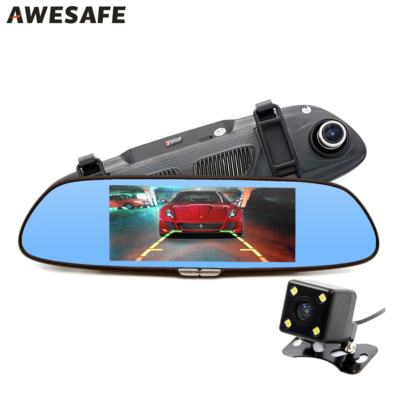 """69.00$  Watch now - http://aikxf.worlditems.win/all/product.php?id=32739134903 - """"6.5"""""""" Car Camera Car DVR Dual Lens Review Mirror 2 Split View HD 720P Video Recorder Registrator Camcorder Dashcam"""""""