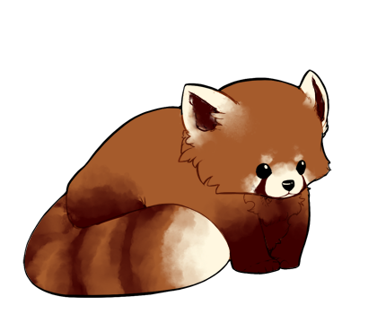 Red Panda Sorta Chibi By Pyxelle Art On Deviantart Red Panda Cartoon Panda Illustration Red Panda