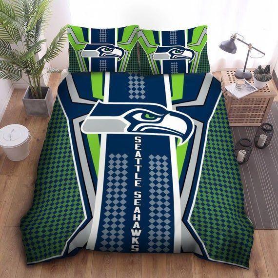 Seattle Seahawks Bedding Set, Seattle Seahawks Duvet Cover Set, Love Seattle Seahawks Bedding Set, S