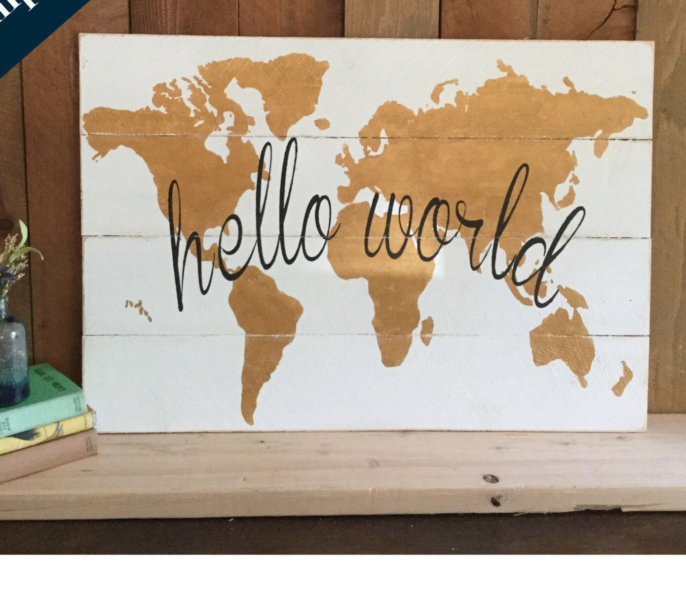 Hello world map gold nursery wall art gold wood map gold world hello world map gold nursery wall art gold wood map gold world map gumiabroncs Images