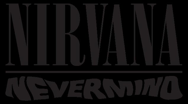 File Nirvananevermind Logo Svg Nirvana Nirvana Logo Black And White Stickers