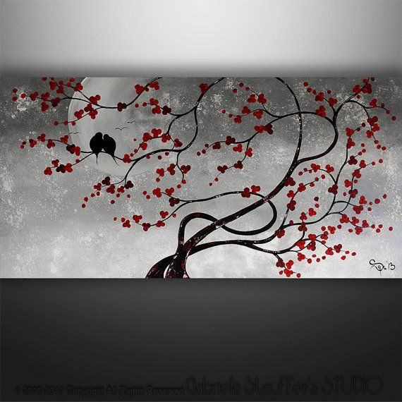abstract painting birds painting landscape painting. Black Bedroom Furniture Sets. Home Design Ideas