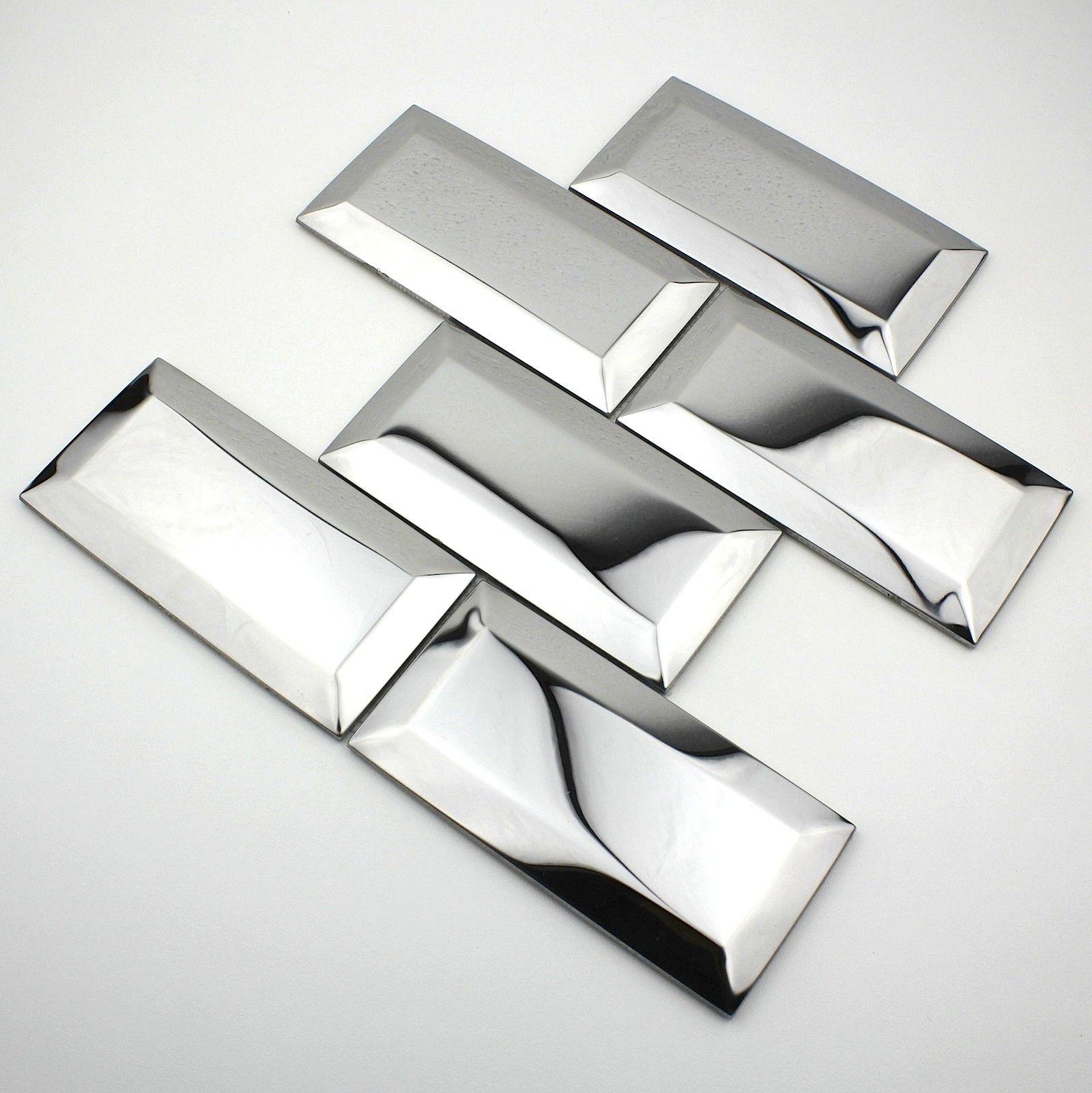 Stainless Steel Mosaic Backsplash Kitchen Mi Metro Mir Carrelage Inox Credence Cuisine Credence