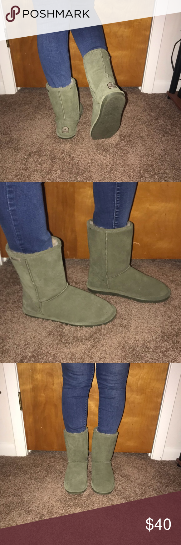 Light Olive Green BearPaw Boots | Boots