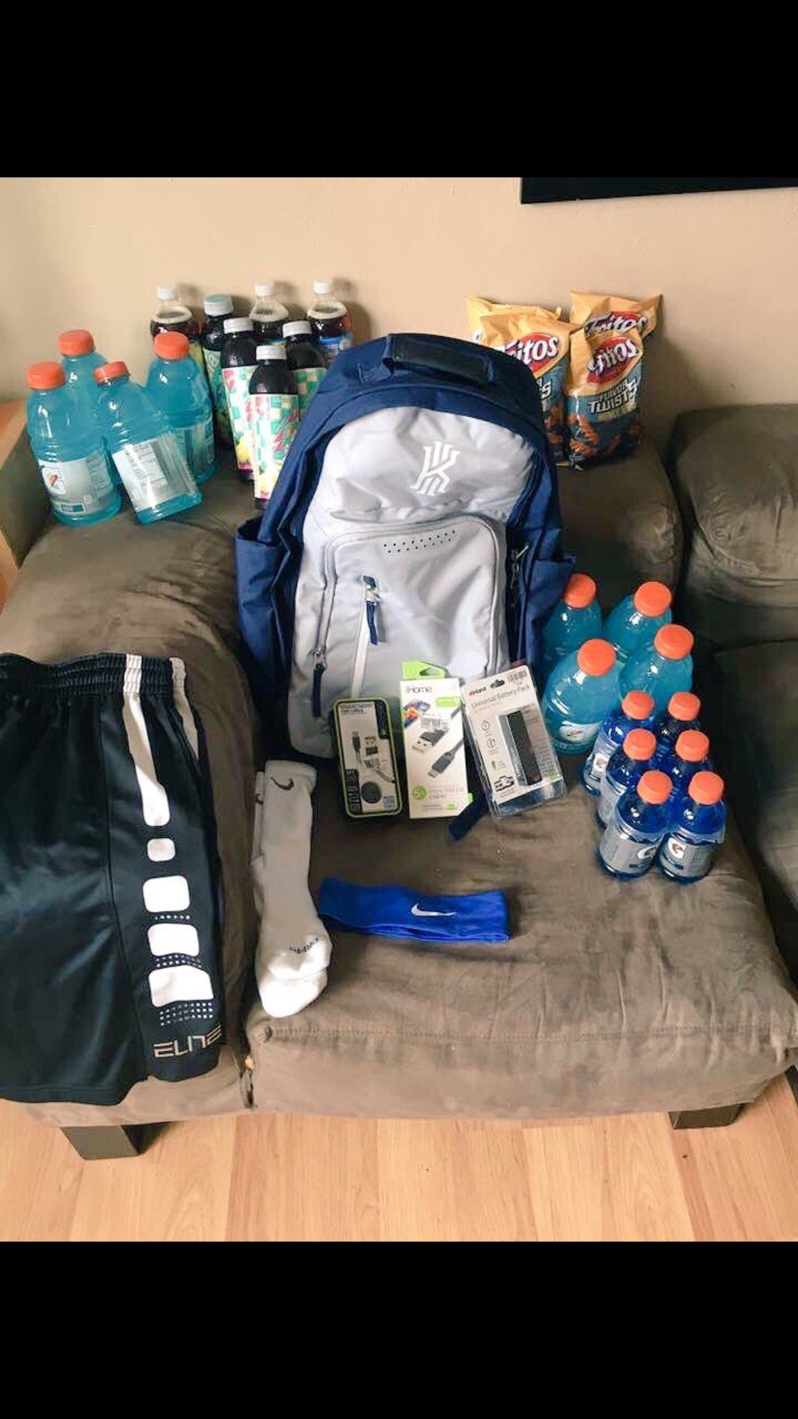 Custom Gym Bag Birthday Gift For Bf But Mine Will Have Lululemon Shirts And Socks Nike Airforce Progenex A Picture Of My Squat Ass