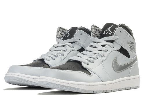 Nike Air Jordan 1 Retro High Women Shoes White Black Silver