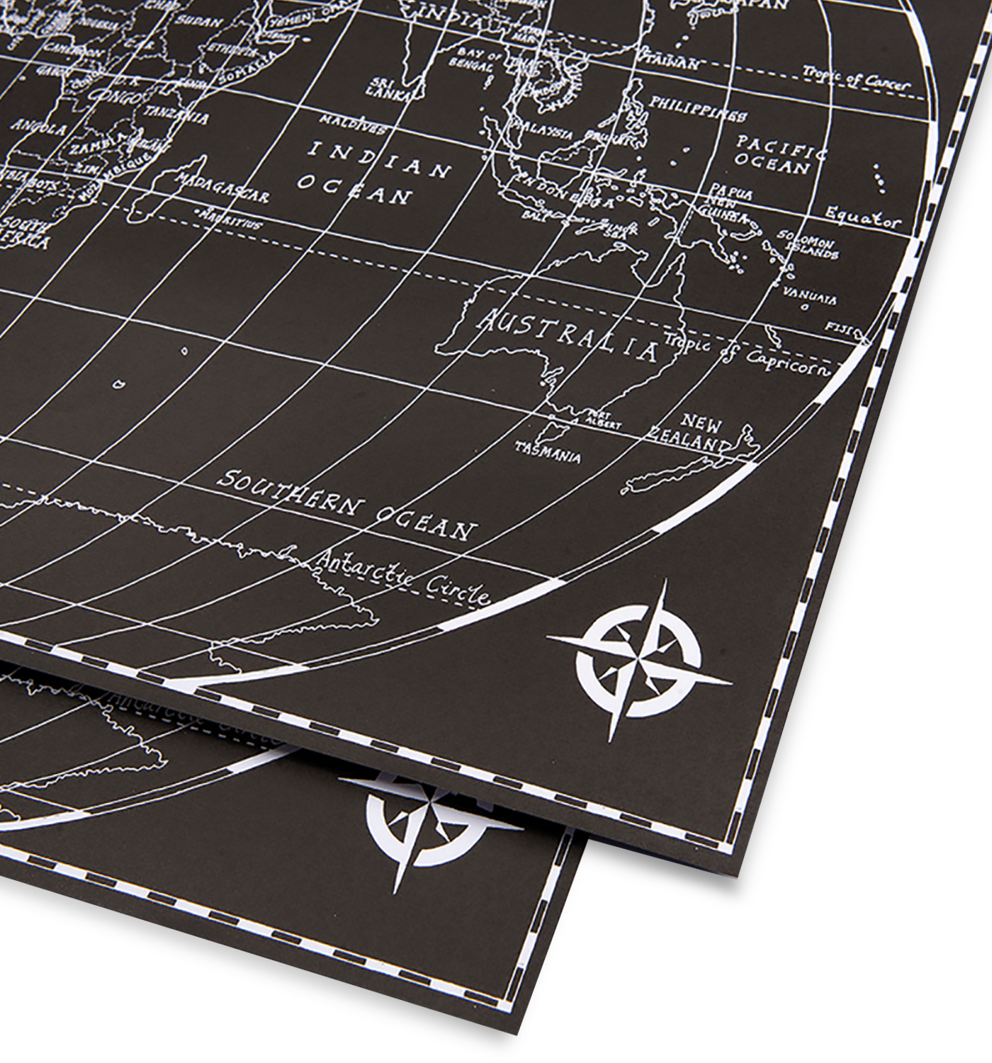 Black world map gift wrap interiors black world map gift wrap gumiabroncs Gallery