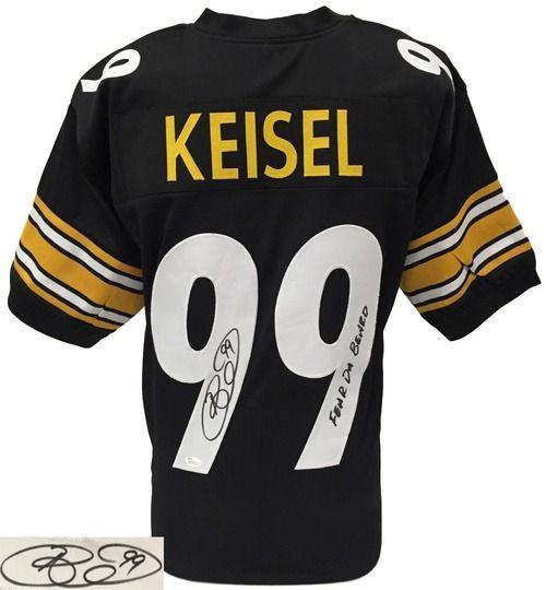 Brett Keisel Signed Custom Pro-Style Black Football Jersey Fear Da Beard JSA