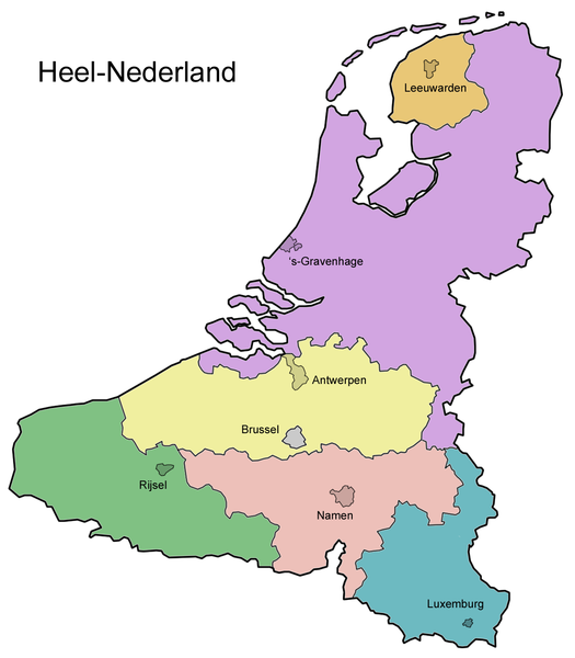 map of the whole netherlands a potential union of belgium the