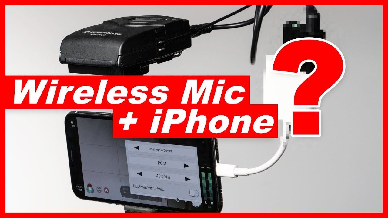 How to Add a Wireless Microphone to iPhone 7 iPhone 8 or