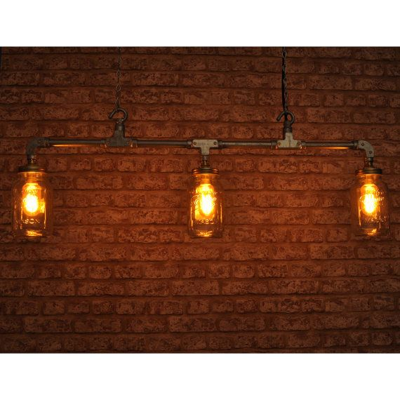 THE CLARKE 3 Way Pendant Light New Industrial Style Vintage Retro Lighting  Works With Led Bar