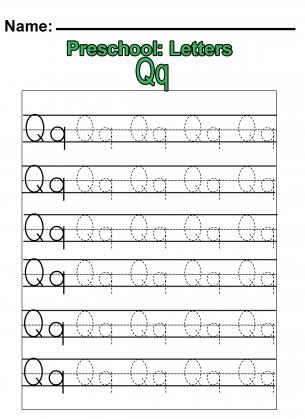 preschool q practice worksheet letter q worksheets preschool worksheets free printable. Black Bedroom Furniture Sets. Home Design Ideas