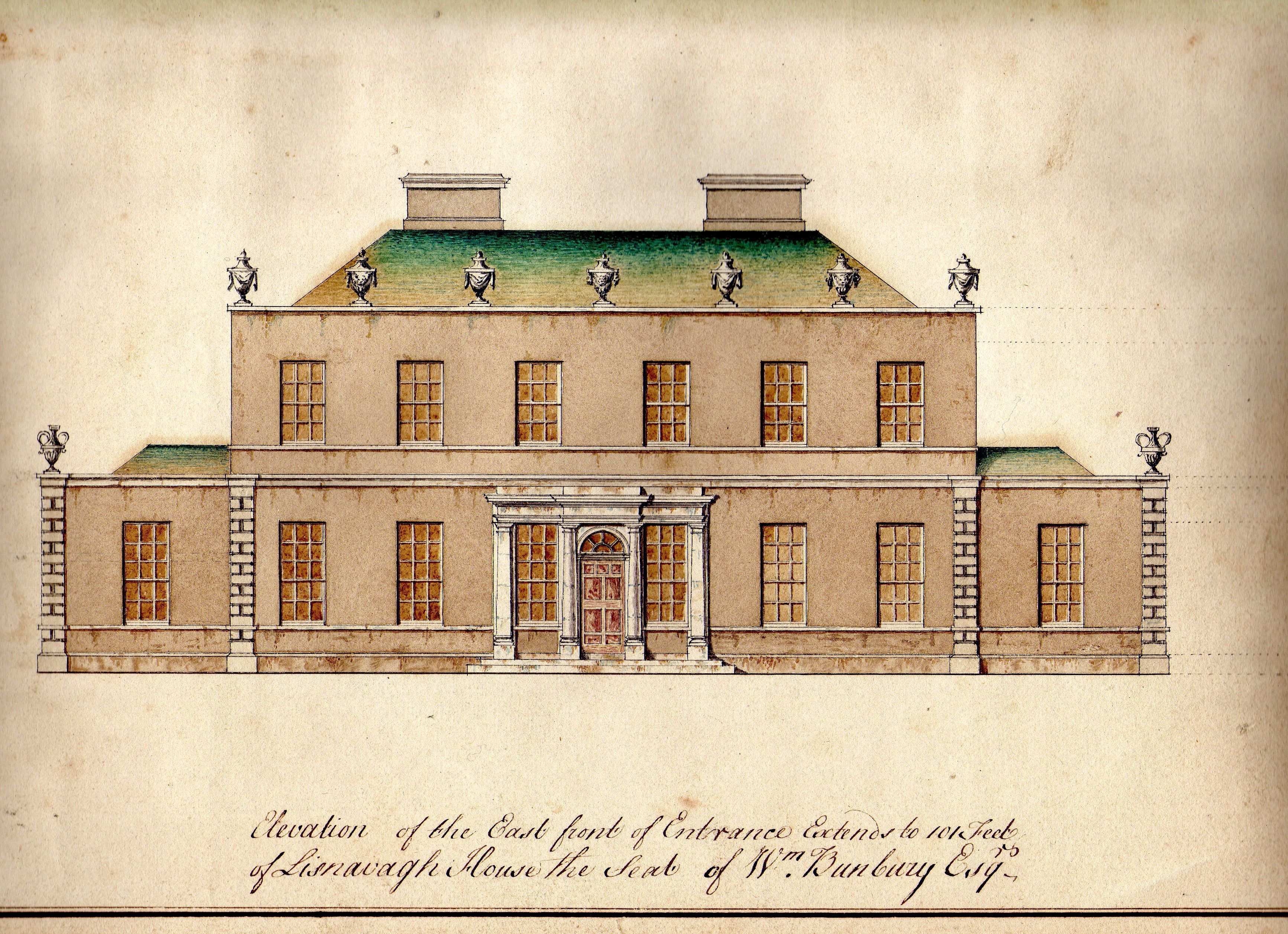 William had grand designs on a new Georgian house at Lisnavagh at ...