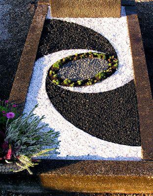 Grabgestaltung motiv13 groblje pinterest cemetery for Grabgestaltung mit steinen