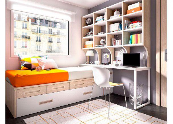 Dormitorio con cama nido cajones modulares   Novedades de mueble ...