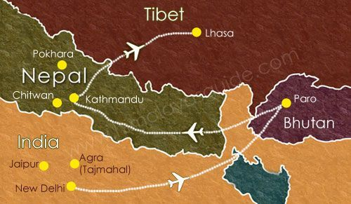 The perfect flight route india bhutan nepal tibet for a dream the perfect flight route india bhutan nepal tibet for a dream trip cre himalayasguide gumiabroncs Images